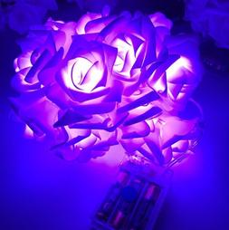 20/10 LED Rose Flower Fairy Wedding Party Christmas Decor Xm