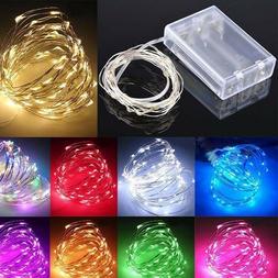 20/50/100 LED Battery Micro Rice Wire Copper Fairy String Li