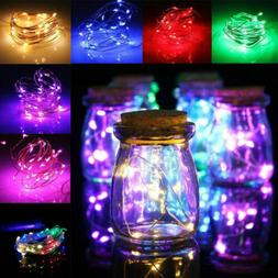 20/50/100 LED Copper Wire String Fairy Lights Battery Powere