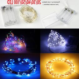 20/30/40/50/100 LED Copper Wire Battery String Lights Fairy