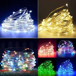 20/30/50/100 LED String Lights Copper Wire Christmas Party W