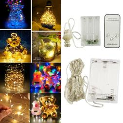 20/30/50/100LED Battery Powered Copper Wire Christmas Outdoo