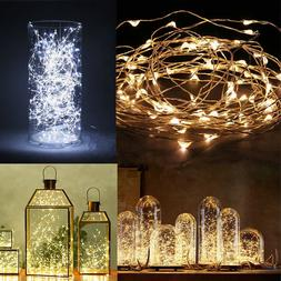 20/40 LED String Copper Wire Fairy Lights Battery Powered Pa