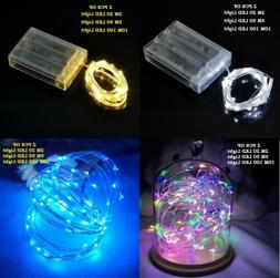 2 PCS 20//50/100 LED String Fairy Lights Copper Wire Battery