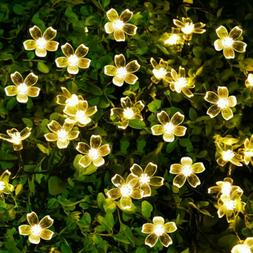 20/50 LED Butterfly/Cherry Solar String Lights Fairy Party D