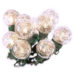 Bethlehem 20 LED 25ft G40 Tinsel String Lights Christmas Hol