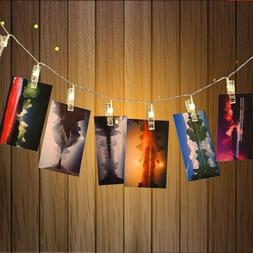 20 led 7ft led photo clip string