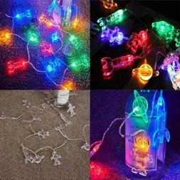 20 LED Children's Room String Light Astronaut Spaceship Rock