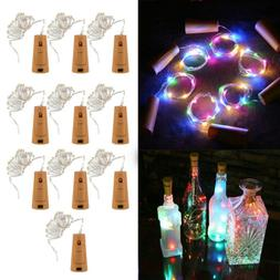 20 LED Cork Shape String Fairy Night Light Wine Bottle Lamp