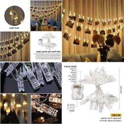 20 LED Photo Clip Remote String Lights Battery Operated Indo
