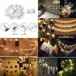 20 LED Photo Clip String Lights Home Decor Indoor/Outdoor Ba