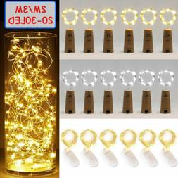 20 LED Wine Bottle Cork Shape Lights Night Fairy String Ligh
