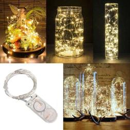 20 LEDs Battery Operated Mini LED Copper Wire String Fairy L