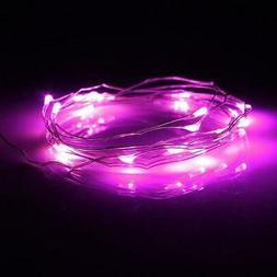 20 Pink LED Micro Fairy String Lights, Wire