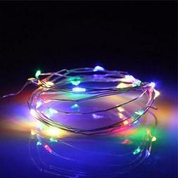 20 RGB Color Changing LED Micro Fairy String Lights, Wire