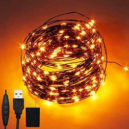 200 LED 66ft Fairy String Lights USB & Adapter Powered, Dimm