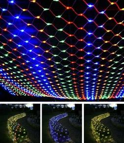 200 LED Fairy String Net Mesh Curtain Lights Waterproof Outd