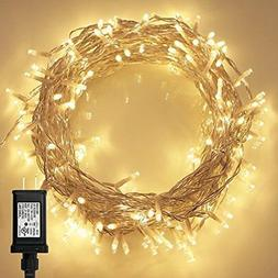 200 LED Indoor String Light With Remote And Timer On 69ft Cl