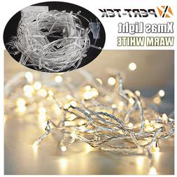 32ft 100LED Warm White String Fairy Lights Party Christmas D