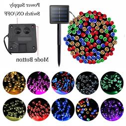100/200 LED Solar Fairy Lights Outdoor Garden String Light X