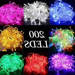 200 LEDs Christmas Tree Fairy String Party Lights Lamp Xmas
