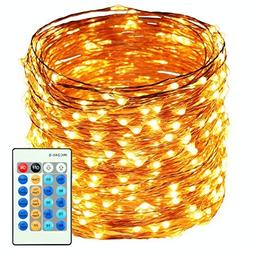 200 LED String Lights, 66 Ft Dimmable Firefly Light, Flexibl