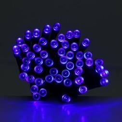 200led solar powered christmas blue color holiday