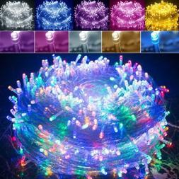200M 1000LED Waterproof Christmas Tree Fairy String Party Li