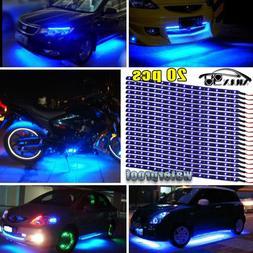 """20X Blue 15LED/12"""" Flexible Light Strip for Car Boat Truck D"""