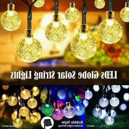 20ft 30 LED Solar String Ball Lights Outdoor Waterproof Warm