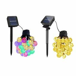 20ft 30 LED Solar String Ball Lights Outdoor Waterproof Chri