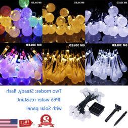 20ft 30 LED Solar String Fairy Lights Outdoor Waterproof Gar