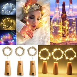 20Led Wine Bottle Cork Shaped String Lights Night Fairy Ligh