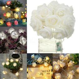 20LEDS Rose Flower Fairy Wedding Garden Party Xmas String Li