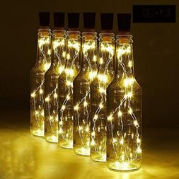 20PCS Battery Wine Bottle Lighting Cork Shaped Bar String LE