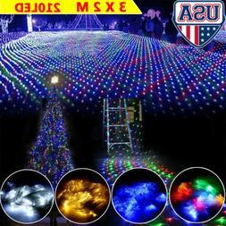 210LED Fairy Curtain String Mesh Light Backdrop Wall Lights