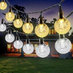 21FT Outdoor String Lights 30 LED Solar Bulb Patio Party Yar