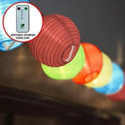 24 Multi Color Lantern String Lights : Indoor Outdoor Mini N