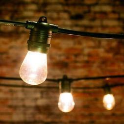 24 Socket Outdoor Commercial String Light Set, S14 Bulbs, 54
