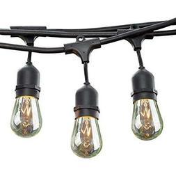 24 String Lights Ft Long Patio Outdoor Weatherproof Commerci