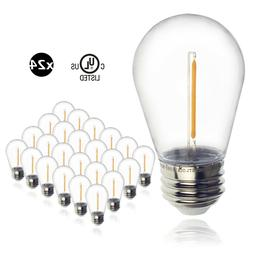 24pcs LED 1W String Light Bulbs Replacement Outdoor Light Eq
