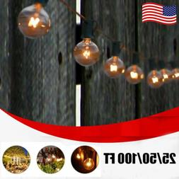 25~100FT G40 Globe Bulb Incandescent Weatherproof Indoor/Out