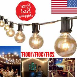 25/50/100FT Waterproof G40 Globe Bulbs Patio Hanging String