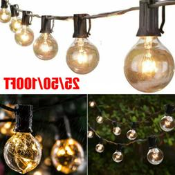 25/50/100FT Waterproof G40 Globe Bulbs Patio Hanging Fairy S
