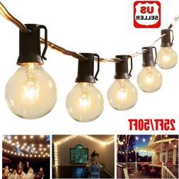 25/50FT Waterproof G40 Globe Bulbs Patio Hanging String Ligh