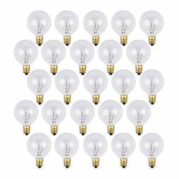 25 Pack - Clear G40 Globe Light Bulbs For Patio String Light
