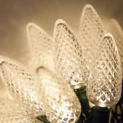 25 C9 Warm White Faceted LED Indoor / Outdoor Christmas Stri
