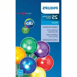 Philips 25 Multi-Color Smooth G40 Globe LED String Christmas