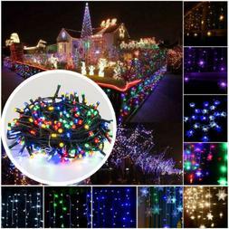 250 LED Outdoor Indoor Fairy String Lights Waterproof Garden