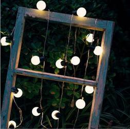 25Ft Globe String Lights Clear G40 Bulbs Indoor Outdoor Deco